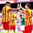 Neymar e Messi formam principal dupla de ataque do Barcelona na temporada