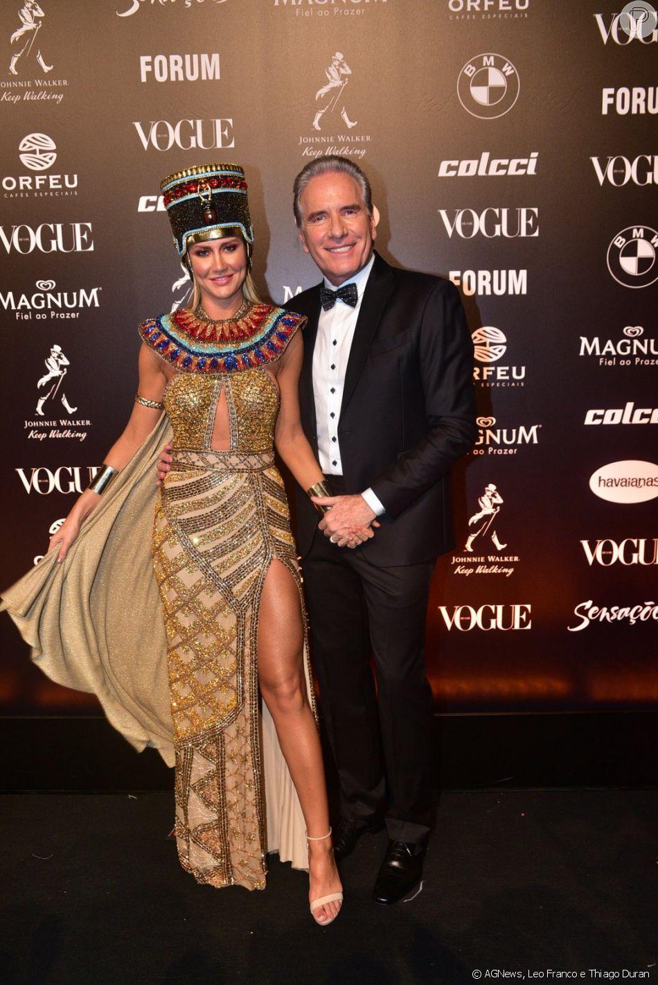 Roberto Justus e Ana Paula Siebert no Baile da Vogue 2019