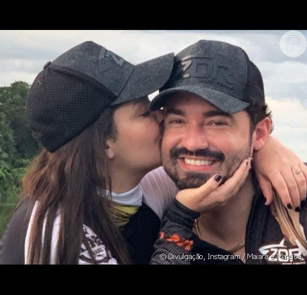 Sem assumir namoro, Maiara e Fernando Zor trocaram declarações na web nesta quinta-feira, 28 de março de 2019