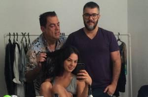 Isis Valverde publica foto sem maquiagem em bastidores de ensaio: 'Surpresa'