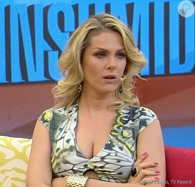 Ana Hickmann chora ao vivo no 'Programa da Tarde' após assessor insinuar que ela tem ligação com político, em 3 de outubro de 2014