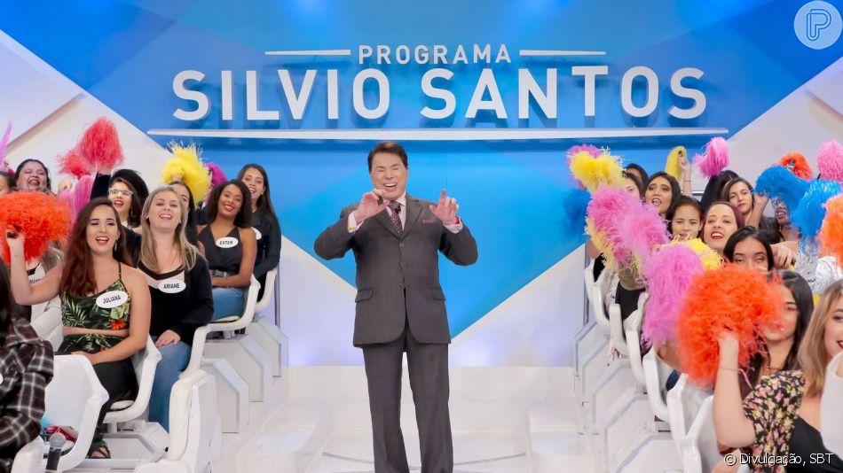 Silvio Santos apareceu com detalhe inusitado no look ao gravar pela primeira vez no ano, nesta terça-feira, 9 de abril de 2019