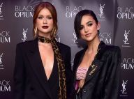 All black: famosas usam looks com alfaiataria e transparência em evento de grife