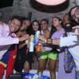 Após a final do 'BBB', Danrley, Gabriela, Elana, Rízia, Hana, Rodrigo e Vanderson foram para uma festa privada