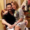 Zilu Camargo e  Marco Antonio Ruggiero estão juntos há pouco mais de um ano