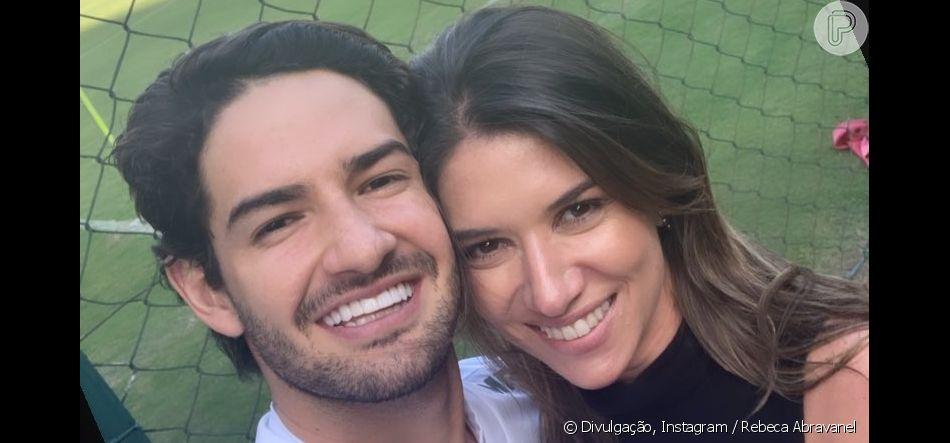 Rebeca Abravanel se declarou para o namorado, o jogador do São Paulo Alexandre Pato, neste sábado, 27 de abril de 2019
