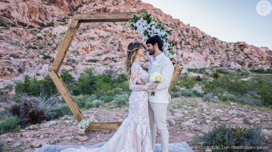 Pôr do sol em LA! Veja fotos do casamento do ex-BBB Lucas e Ana Lúcia Vilela, divulgadas nesta segunda-feira, dia 29 de abril de 2019