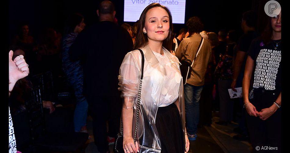 Larissa Manoela prestigia desfile do estilista Vitor Zerbinato no Museu da Imagem e do Som, em São Paulo, na noite desta quinta-feira, 02 de maio de 2019