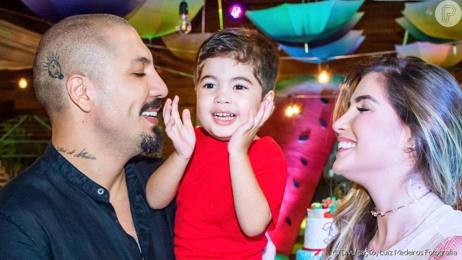 Fernando Medeiros destaca sintonia com o filho, Lucca, fruto do seu casamento com Aline Gotschalg e que recentemente ganhou festa de 3 anos: 'Somos muito grudados. Ele gosta muito de ir ao parquinho, quadras e piscina'