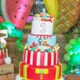 Detalhe da decoração da festa de 3 anos de Lucca, filho de Fernando Medeiros e Aline Gotschalg