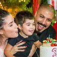 Fernando Medeiros e Aline Gotschalg comemoraram o aniversário de três anos do filho, Lucca: 'Todos os dias ele surpreende trazendo algum diálogo novo, essa fase é sensacional'