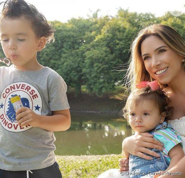 Filhos mais velhos de Patricia Abravanel, Pedro e Jane roubaram a cena em ensaio fotográfico com a mãe
