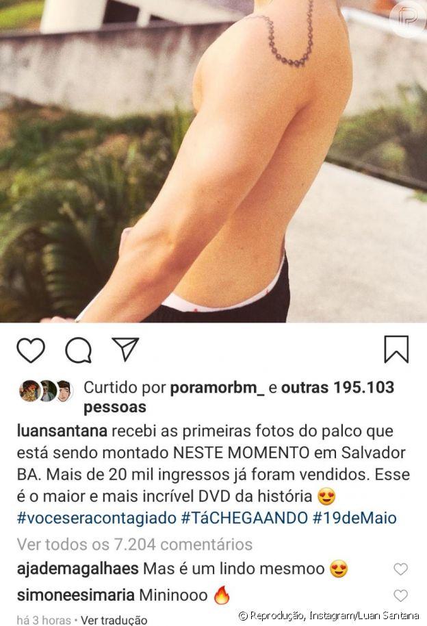Jade Magalhães, namorada de Luan Santana, elogia cantor em comentário
