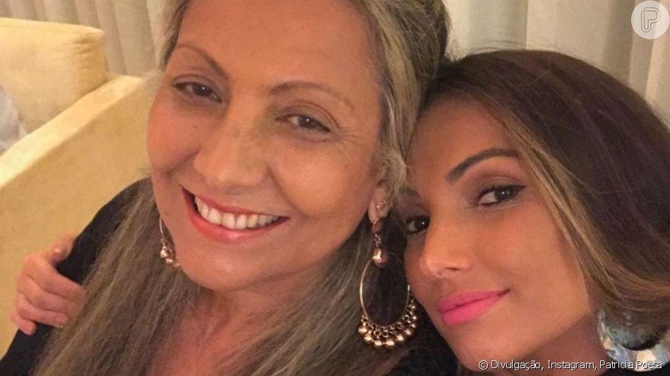 Patricia Poeta impressiona por semelhança com a mãe em foto de homenagem