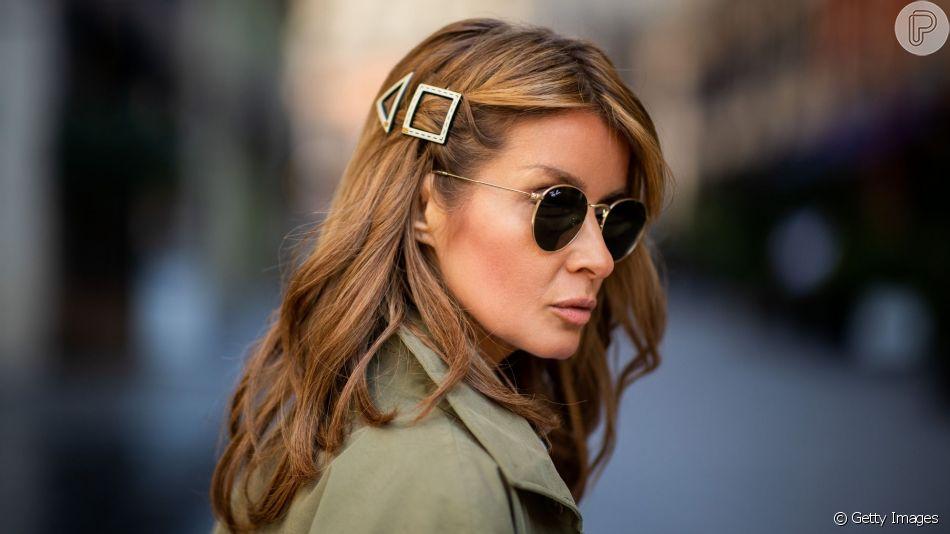 Tendência de cabelo: presilhas geométricas estão em alta na temporada de inverno
