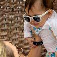 Thyane Dantas incentivou o filho, Dom, de 8 meses, a falar 'mamãe' e compartilou o vídeo na sua conta de Instagram Stories