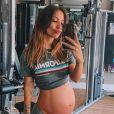 Gabi Brandt está grávida de oito meses