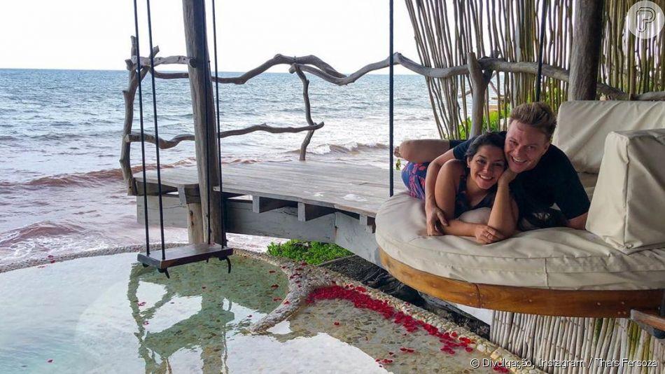 Thais Fersoza e Michel Teló estão  curtindo viagem para comemorar o Dia dos Namorados