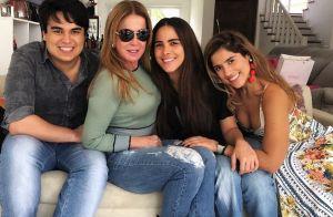Camilla Camargo ri da reação da mãe, Zilu, a vídeo em noite com filhos: 'Linda'