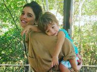Aos 2 anos, filho de Rafa Brites surpreende com barriga sarada: 'Genética'
