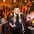 Mirella Santos apostou em look total black e make com batom marcante para festa de luxo de 37 anos de Simaria, no Jardins, em São Paulo, na noite desta quarta-feira, 26 de junho de 2019