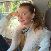 Bolsa de grife e camisa xadrez: Marina Ruy Barbosa exibe look estiloso em viagem
