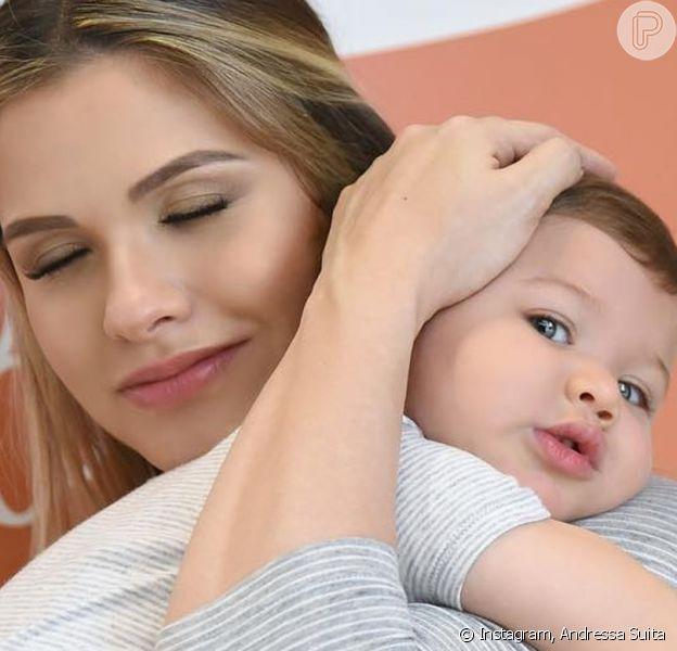 Filho mais velho de Andressa Suita e Gusttavo Lima, Gabriel ganhou homenagem da mãe pelo seu aniversário de 2 anos, nesta sexta-feira, 28 de junho de 2019: 'Te amo muito!'