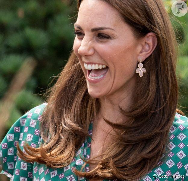 Preço acessível de brinco escolhido por Kate Middleton nesta segunda-feira, dia 01 de julho de 2019