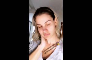 Andressa Suita relata cansaço após passar noite cuidando dos filhos: 'Gripados'
