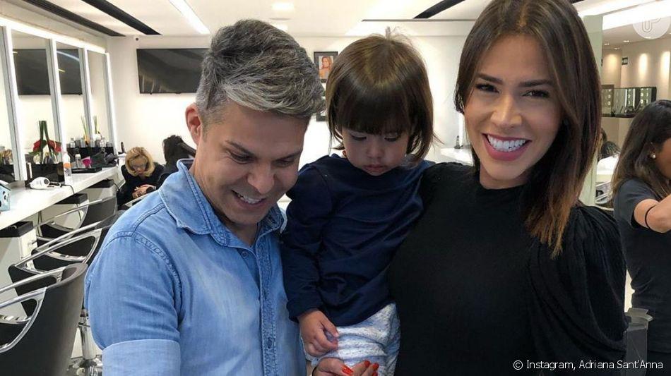 Adriana Sant'Anna mostrou primeiro corte do cabelo da filha, Linda, nesta segunda-feira, 8 de julho de 2019