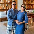 Cesar Tralli e Ticiane Pinheiro comemoraram a chegada da filha, Manuella