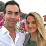Ticiane Pinheiro elogia Cesar Tralli ao vê-lo com Manuella no colo: 'Incrível'