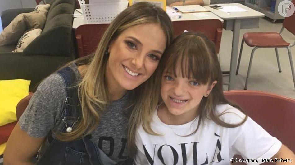 Ticiane Pinheiro elogia relação entre as filhas ao parabenizar Rafa por aniversário neste domingo, dia 21 de julho de 2019