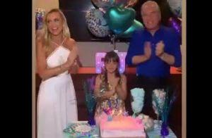 Rafaella Justus festeja 10 anos com tema sereia ao lado do pai nos EUA. Vídeo!