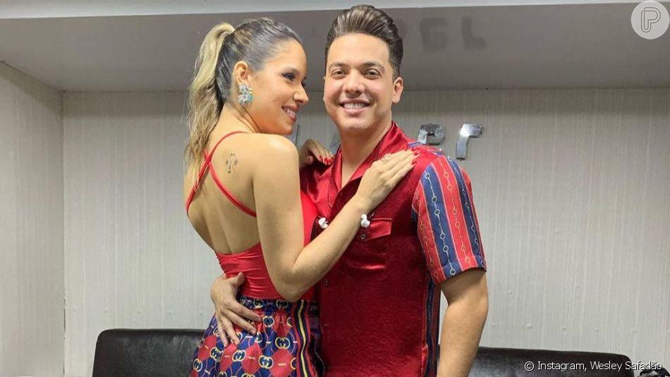 Thyane Dantas comemorou 3 anos de casamento com Wesley Safadão nesta quinta-feira, 1 de agosto de 2019