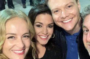 Thais Fersoza e Teló curtem show com Huck e Angélica:'Companheiros de baladinha'