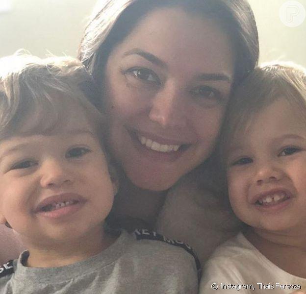 Thais Fersoza flagra pedido divertido de Melinda para Teodoro em vídeo postado nesta quarta-feira, dia 14 de agosto de 2019