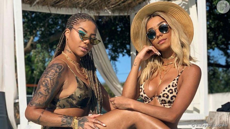 Ludmilla mostrou tatuagem que fez para namorada, Brunna Gonçalves, nesta sexta-feira, 16 de agosto de 2019