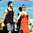 Fabiula Nascimento curtiu seu dia na praia ao lado do marido, Emilio Dantas