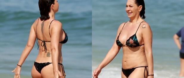 Fabiula Nascimento curte aniversário na praia com o marido, Emilio Dantas. Fotos