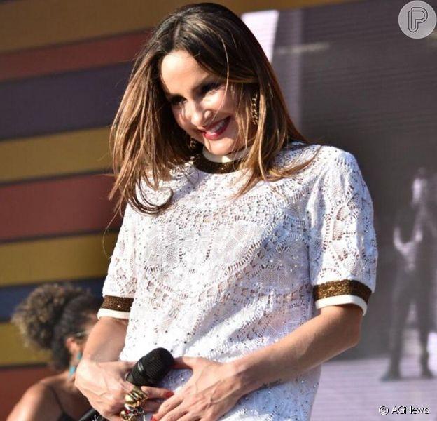 Claudia Leitte deu à luz sua primeira filha, Bela, nesta terça-feira, 20 de agosto de 2019