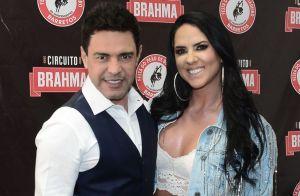 Graciele Lacerda prestigia Zezé di Camargo em show com look glow. Confira!