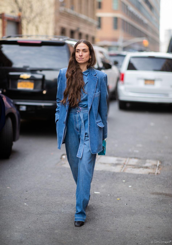 Look Total Jeans é Uma Das Tendências Mais Fortes Dos Anos