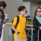 Cresceu! Filho de Adriana Esteves e Vladimir Brichta surge em foto rara com pais