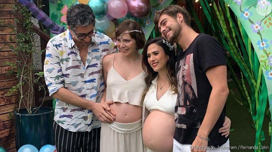 Tatá Werneck e Leticia Colin fazem chá de bebê juntas no Rio, em 1º de setembro de 2019