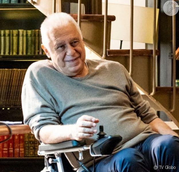 Alberto (Antônio Fagundes) cansa de lutar contra o câncer e pede para morrer na novela 'Bom Sucesso'