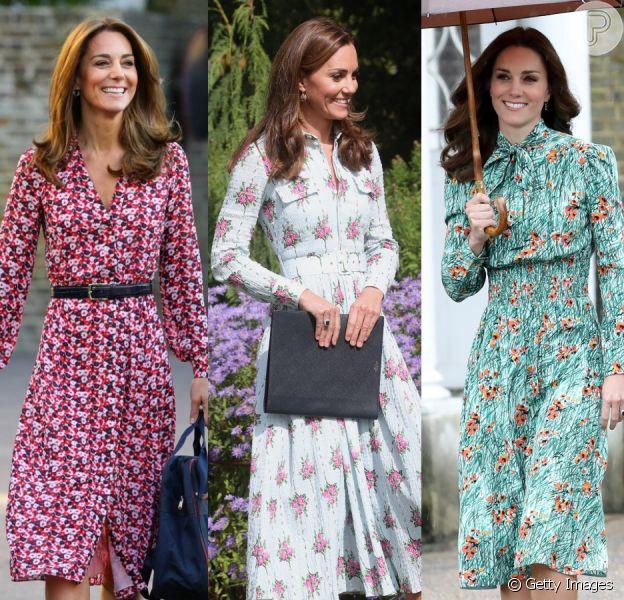 Vestidos florais de Kate Middleton são a cara da Primavera-Verão