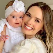Thaeme é confundida por fãs com filha ao relembrar foto sua bebê: 'Liz?'. Veja!