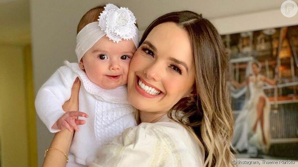 Thaeme é confundida por fãs com filha ao relembrar foto sua bebê nesta quinta-feira, dia 12 de setembro de 2019