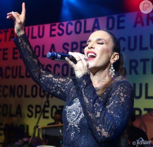 Ivete Sangalo faz show surpresa em evento beneficente após 'The Voice Brasil' ao vivo, nesta quinta-feira, 19 de setembro de 2019